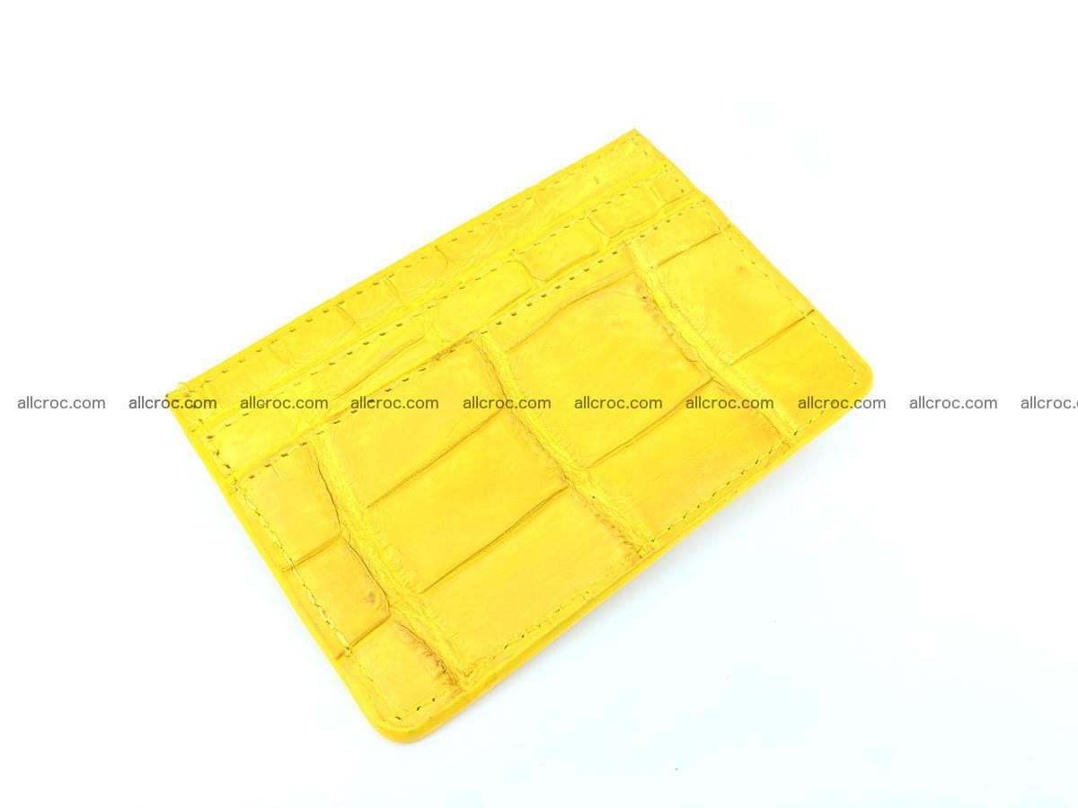 crocodile skin card holder yellow color 989 Foto 0