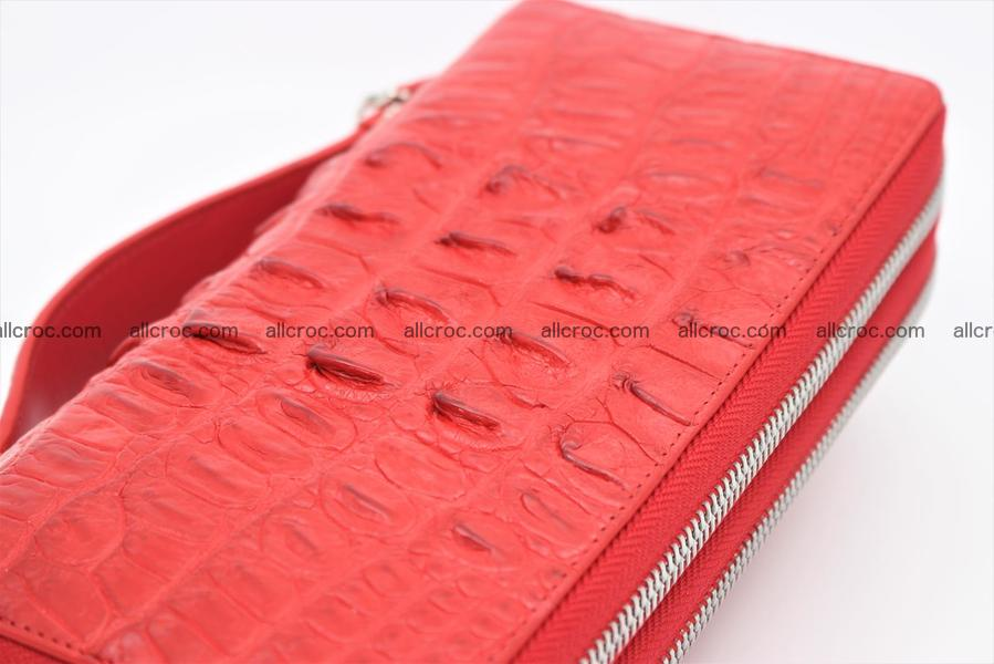 Crocodile skin clutch red color 1263