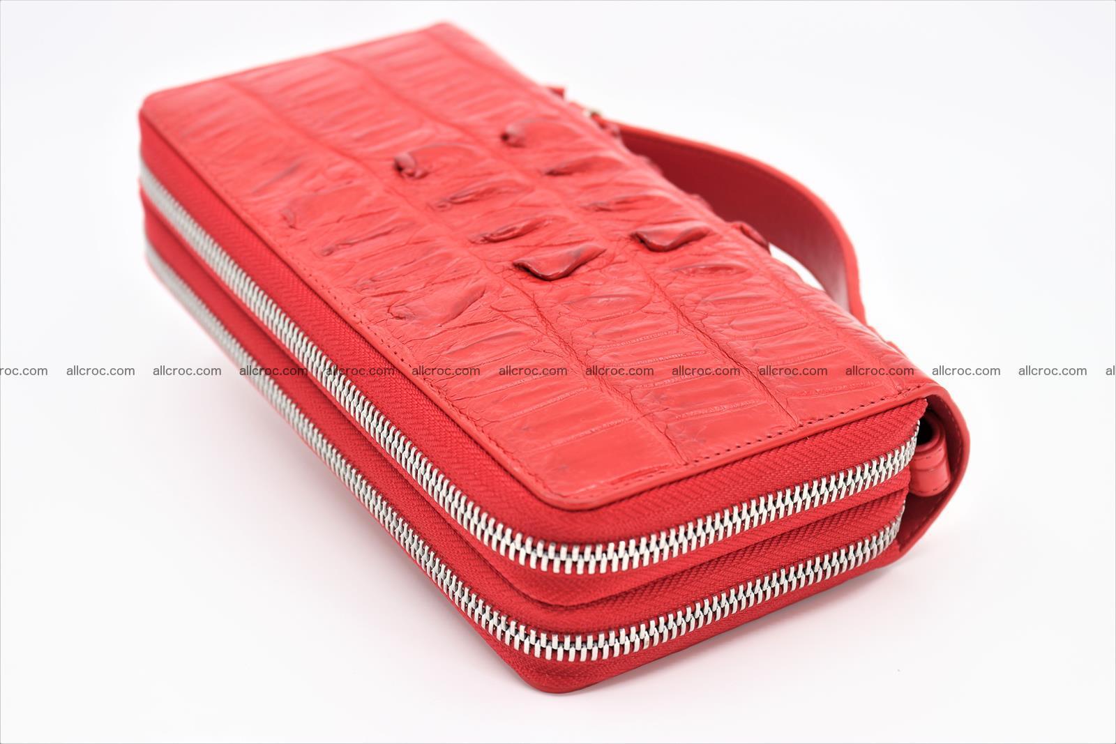 Crocodile skin clutch red color 2 zips 1263 Foto 1