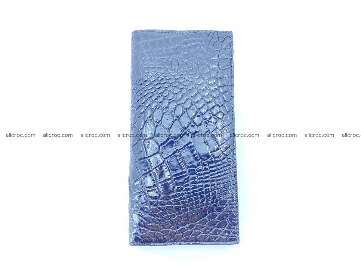 Crocodile skin long wallet bifold 485 Foto 6