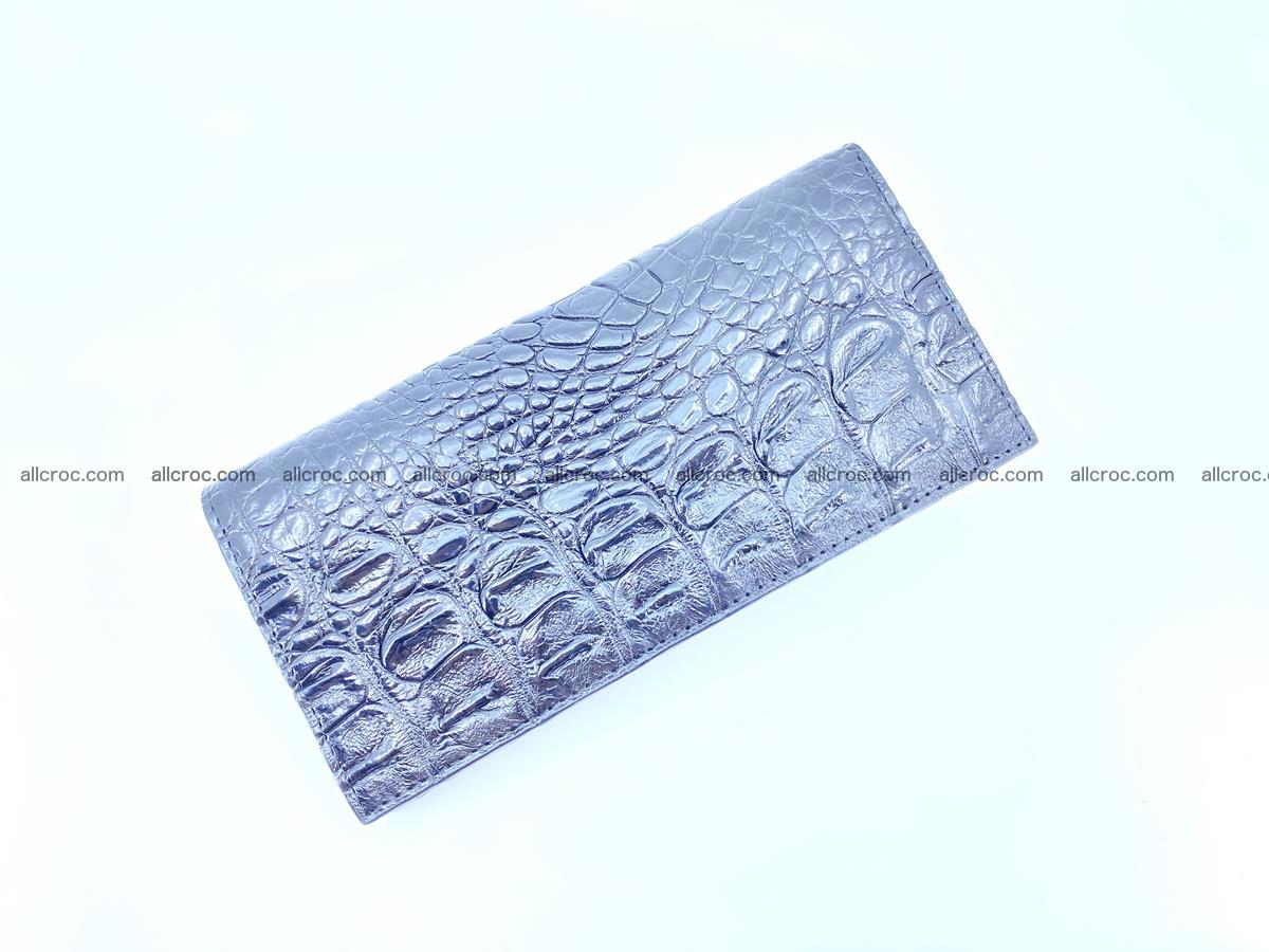 Crocodile skin long wallet bifold 485 Foto 3