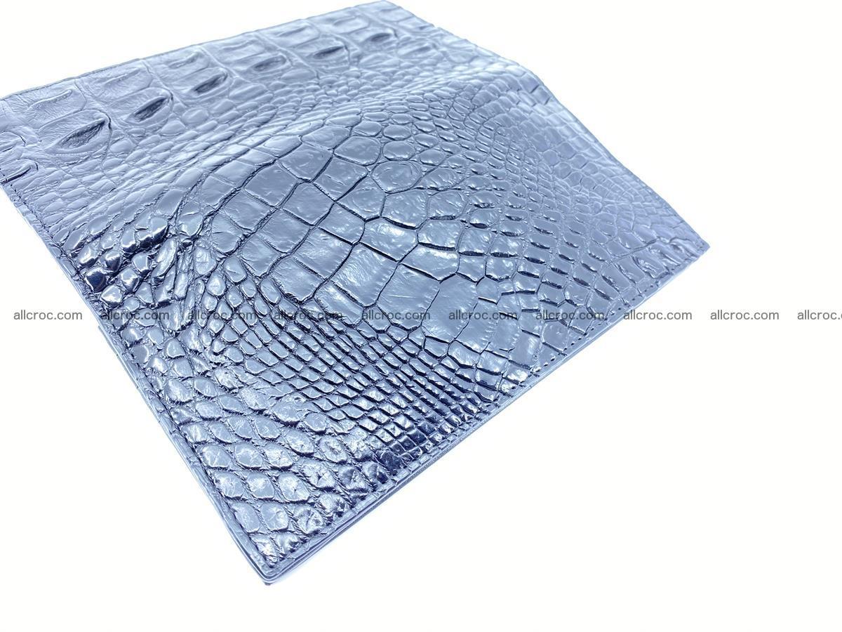 Crocodile skin long wallet bifold 485 Foto 10