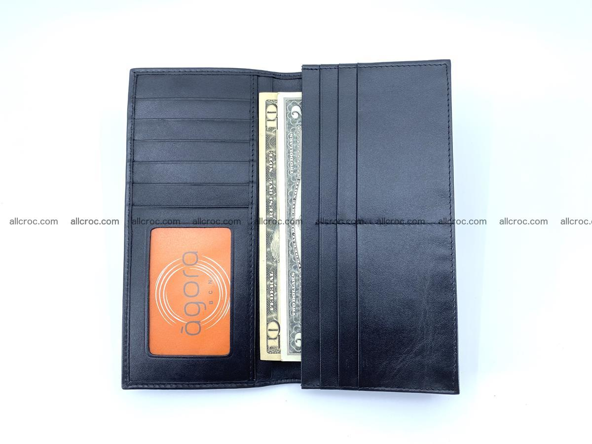 Crocodile skin long wallet bifold 485 Foto 12