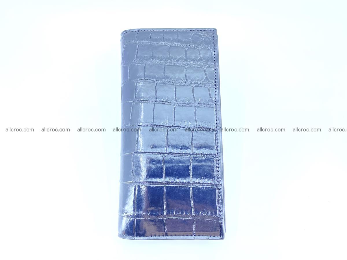 Crocodile skin long wallet bifold 487 Foto 7