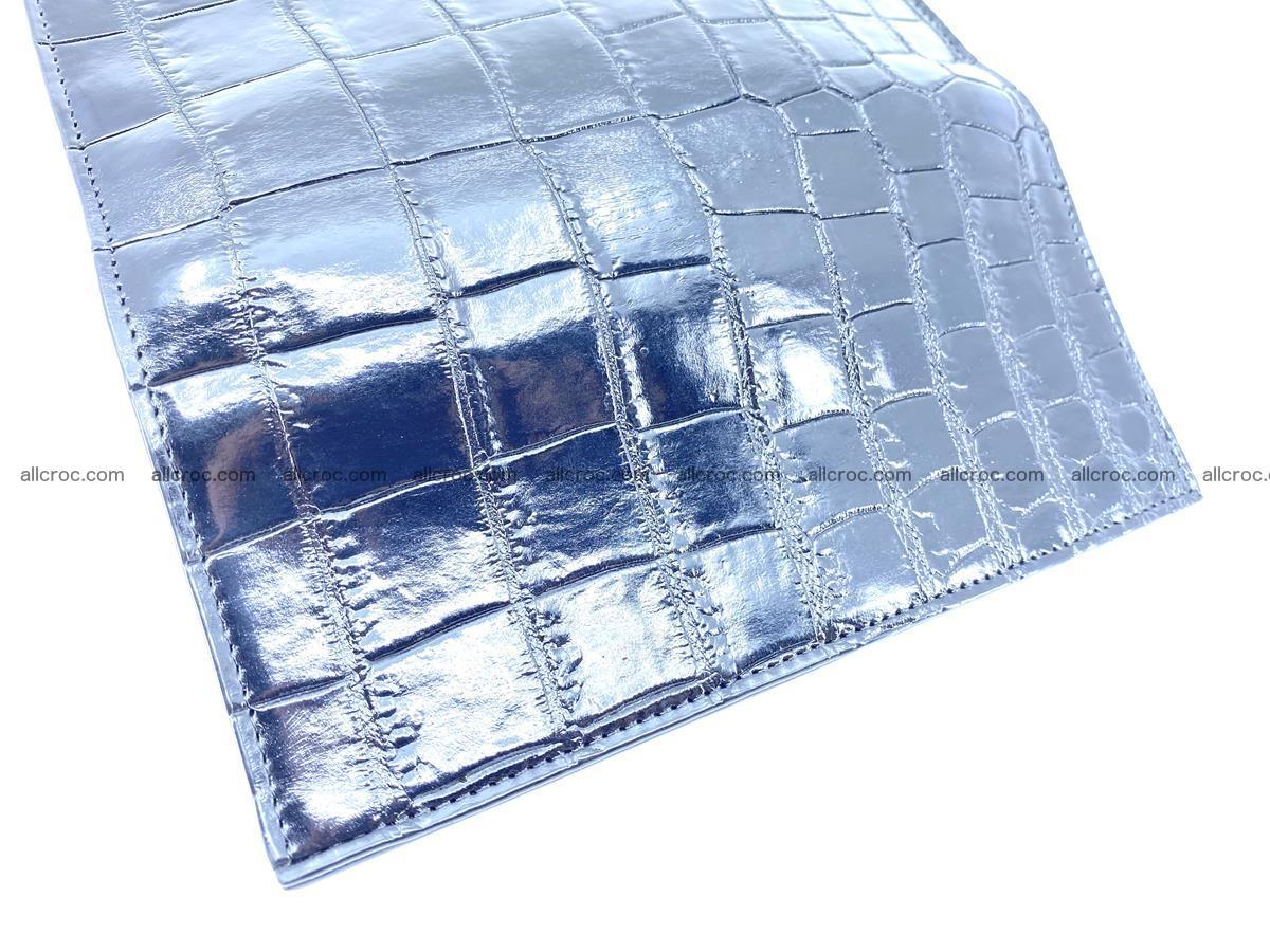 Crocodile skin long wallet bifold 487 Foto 10