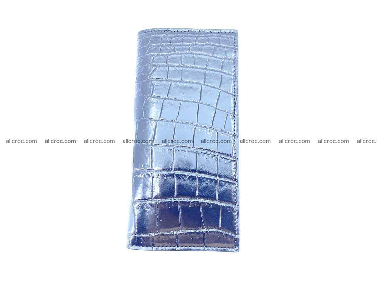 Crocodile skin long wallet bifold Siamese crocodile leather wallet 486 Foto 6