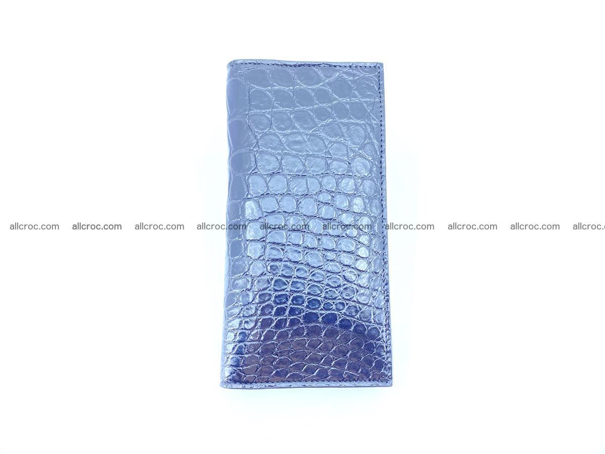 Crocodile skin long wallet bifold Siamese crocodile leather wallet 486 Foto 7