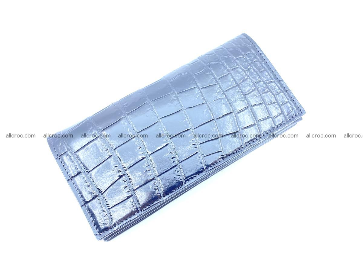 Crocodile skin long wallet bifold Siamese crocodile leather wallet 486 Foto 4