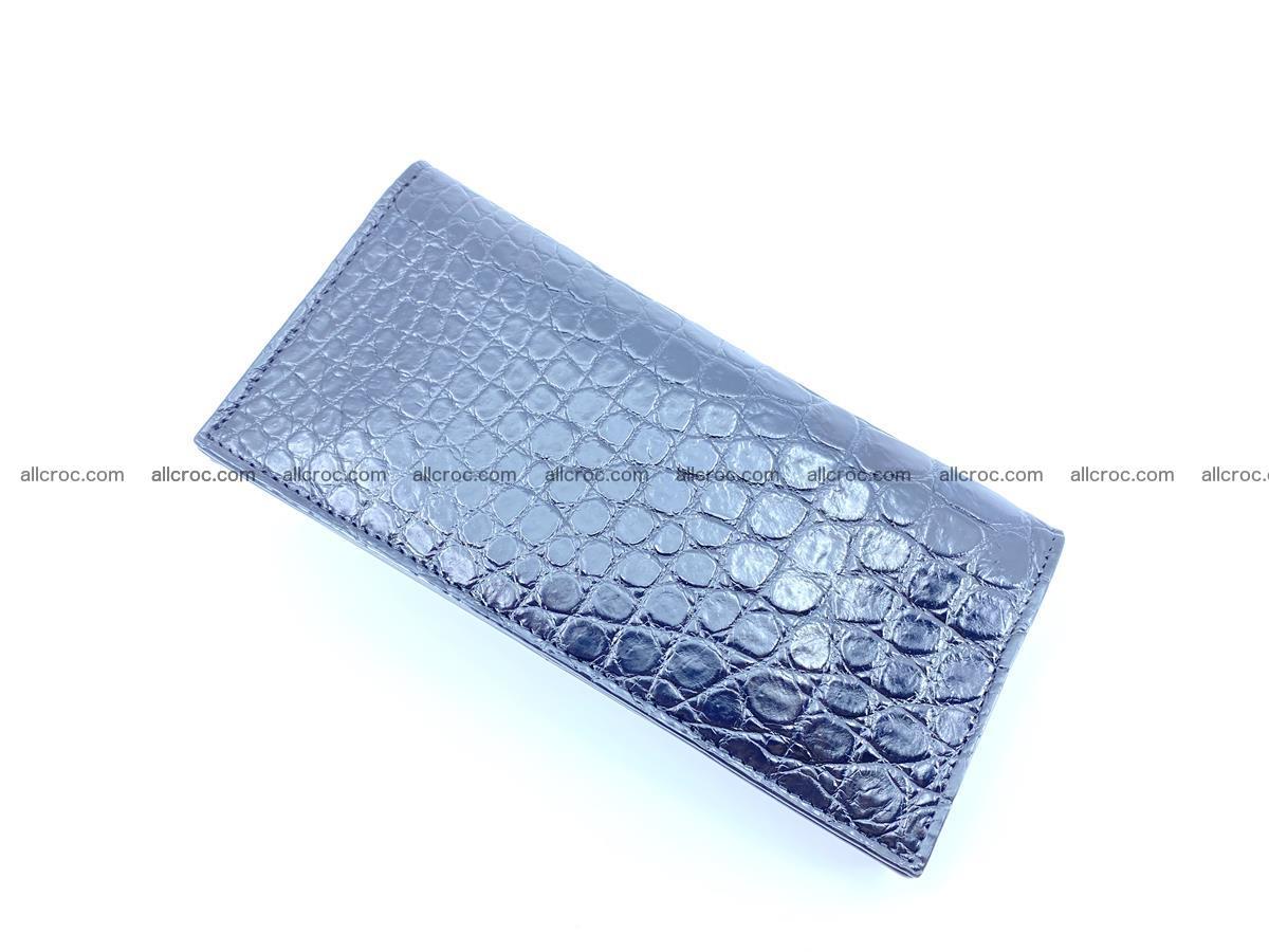 Crocodile skin long wallet bifold Siamese crocodile leather wallet 486 Foto 5