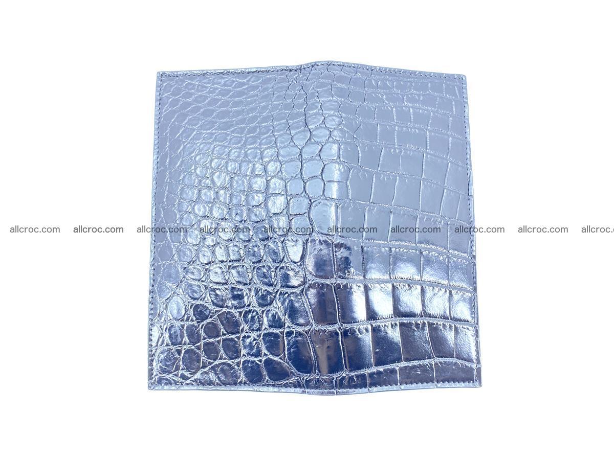 Crocodile skin long wallet bifold Siamese crocodile leather wallet 486 Foto 11