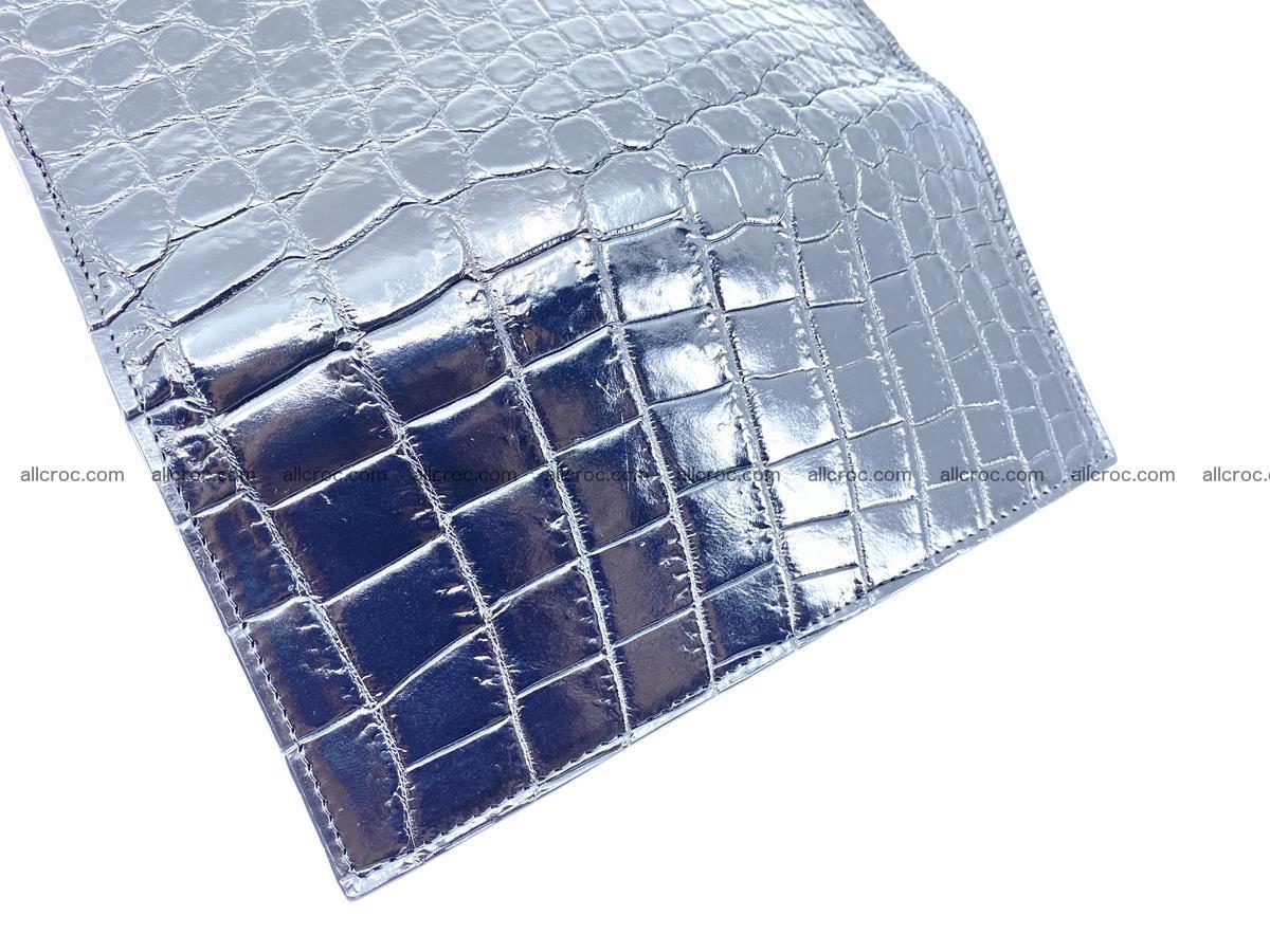 Crocodile skin long wallet bifold Siamese crocodile leather wallet 486 Foto 9