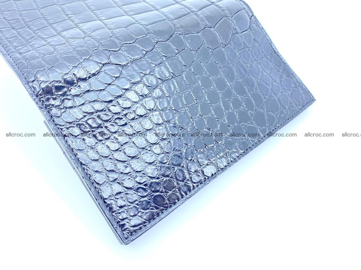 Crocodile skin long wallet bifold Siamese crocodile leather wallet 486 Foto 10
