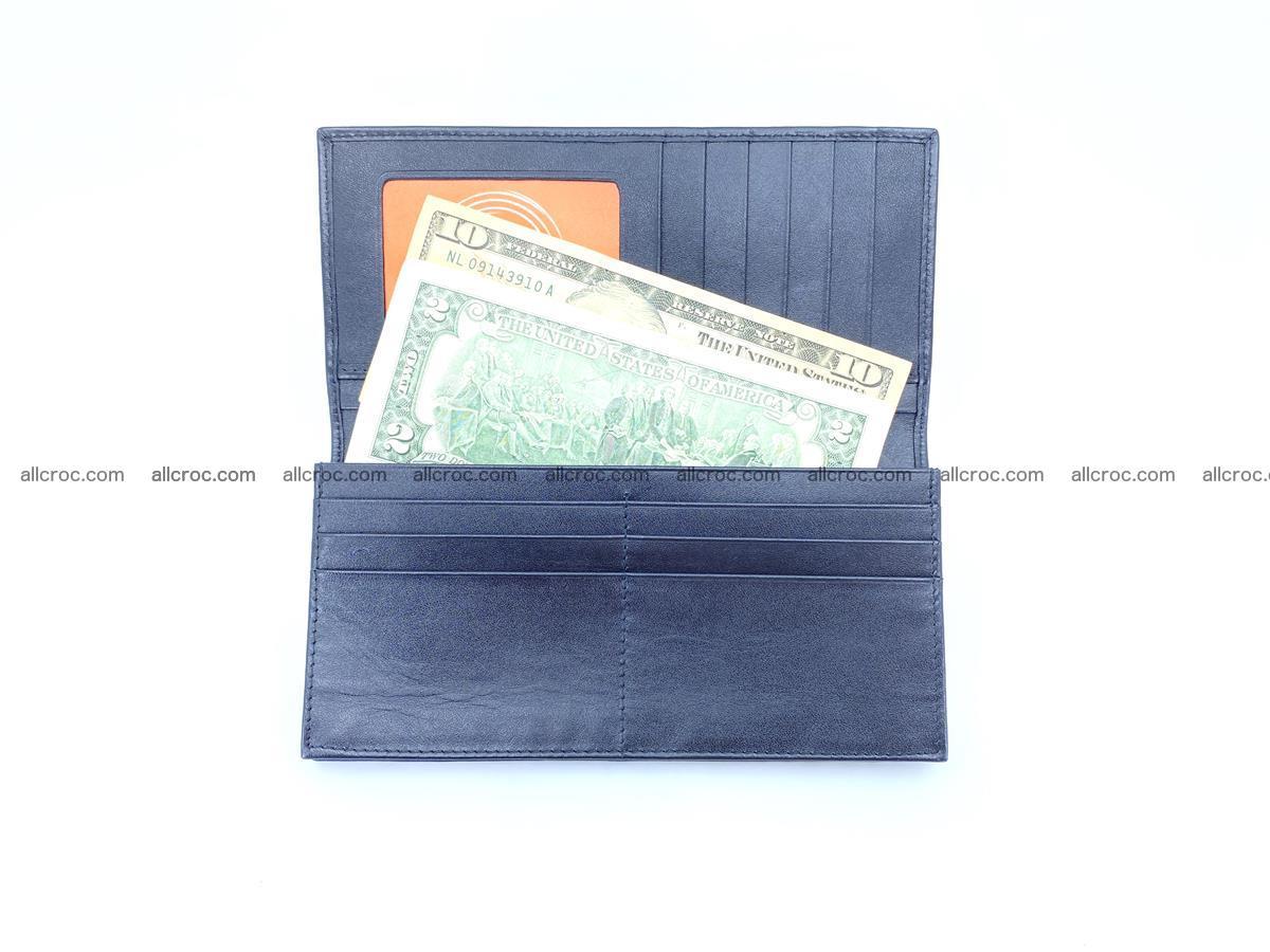 Crocodile skin long wallet bifold Siamese crocodile leather wallet 486 Foto 13