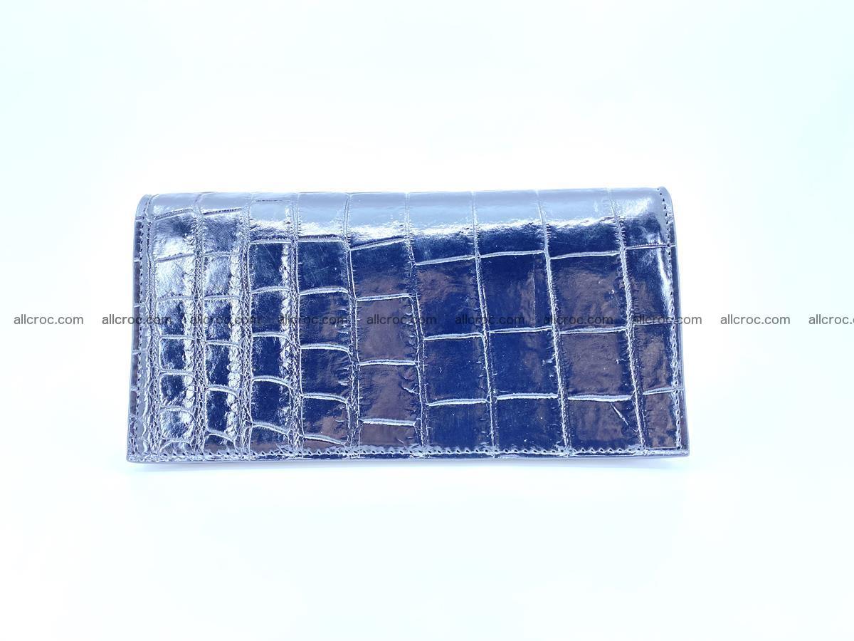 Crocodile skin long wallet bifold 487 Foto 2