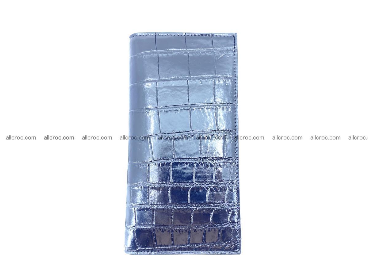 Crocodile skin long wallet bifold 487 Foto 6