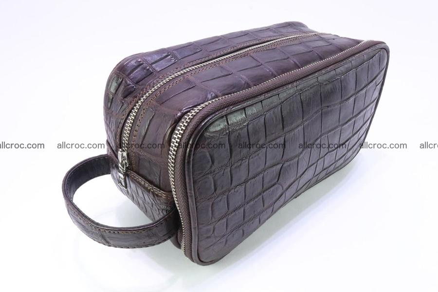Crocodile skin toiletry bag 363