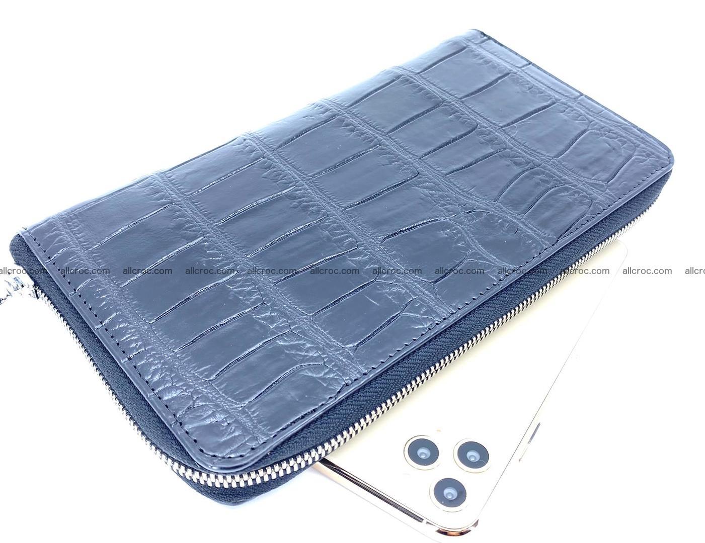 Crocodile skin zip wallet XL-size 658 Foto 0