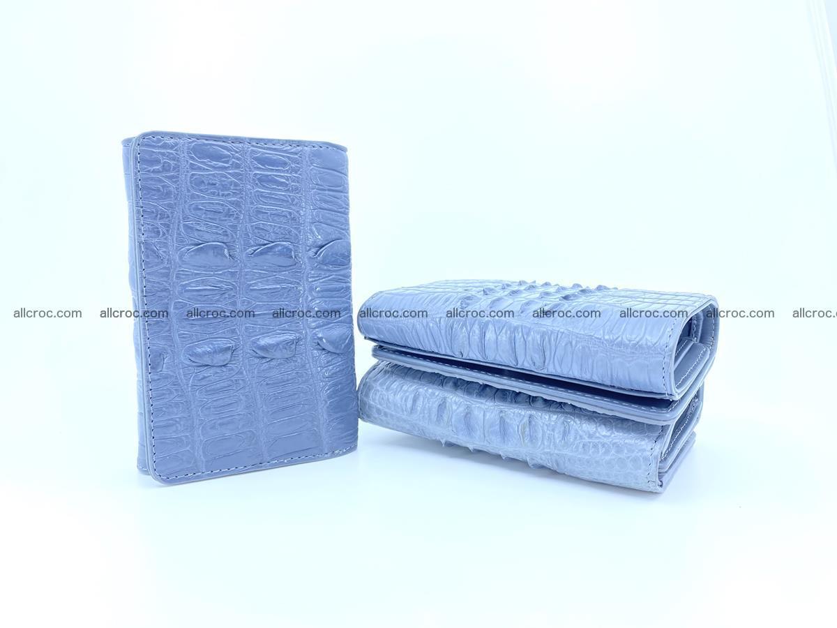 Crocodile skin wallet for women 402 Foto 9