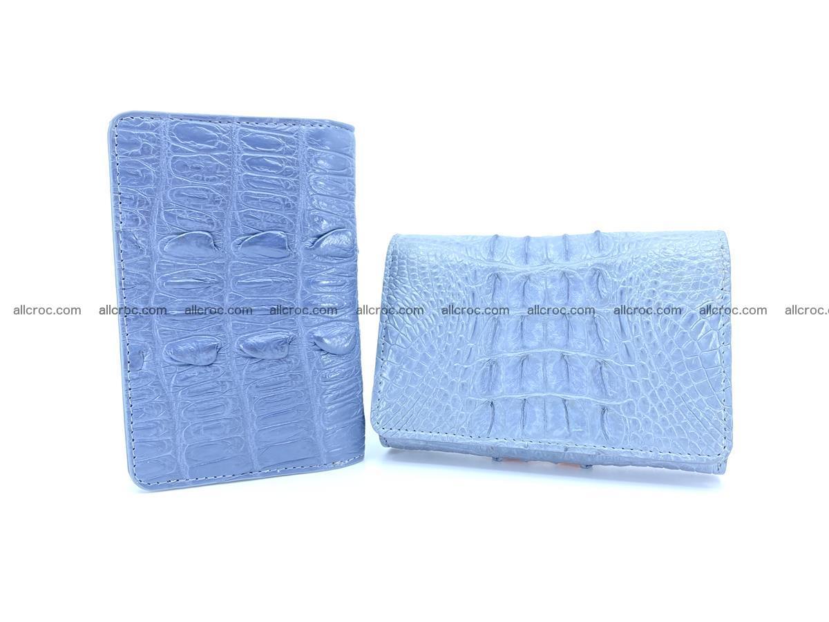 Crocodile skin wallet for women 402 Foto 10