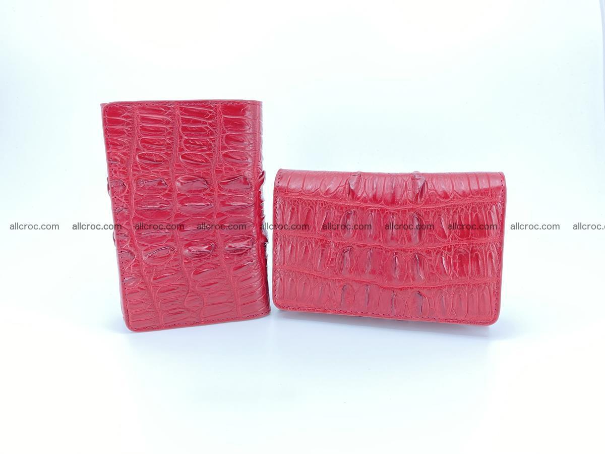 Crocodile skin wallet for women 398 Foto 12