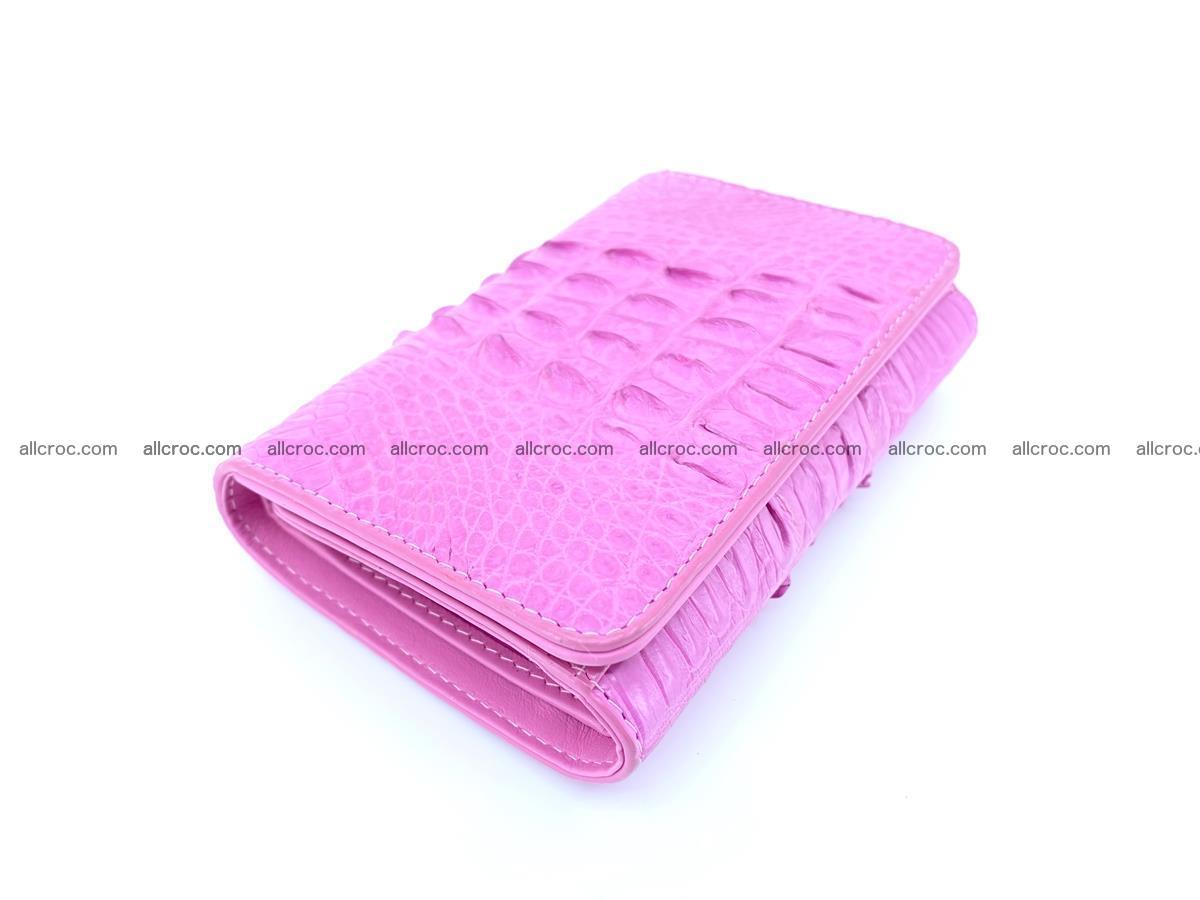 Crocodile skin wallet for women 395 Foto 2