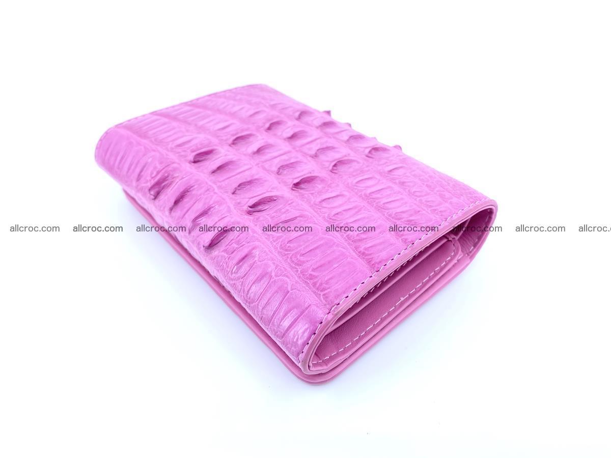 Crocodile skin wallet for women 395 Foto 3