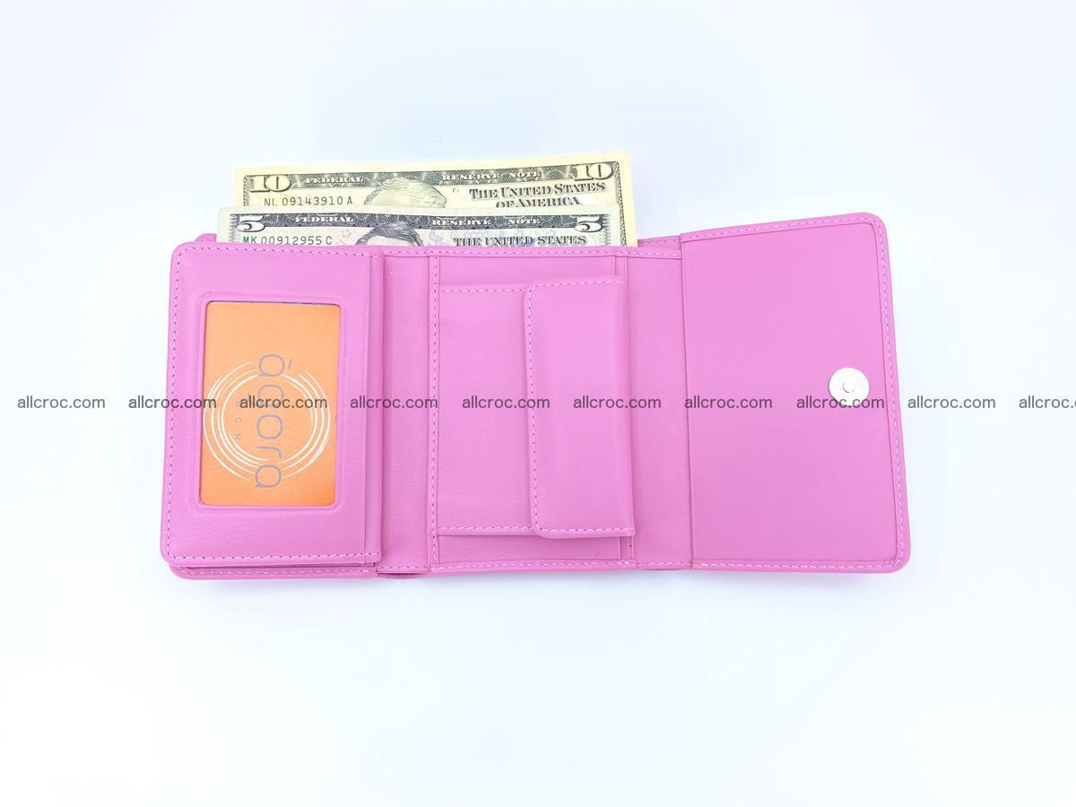 Crocodile skin wallet for women 395 Foto 11