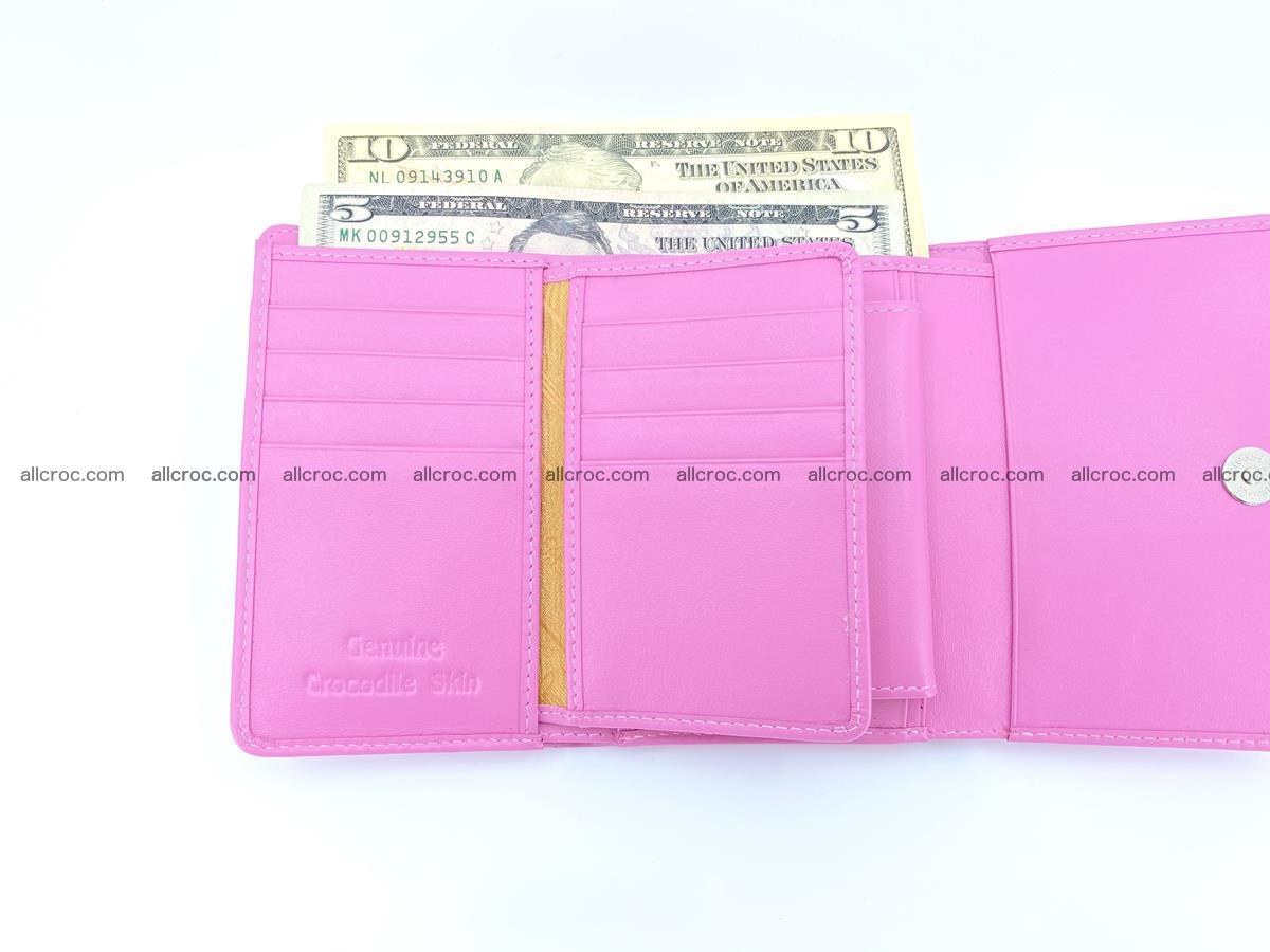 Crocodile skin wallet for women 395 Foto 10