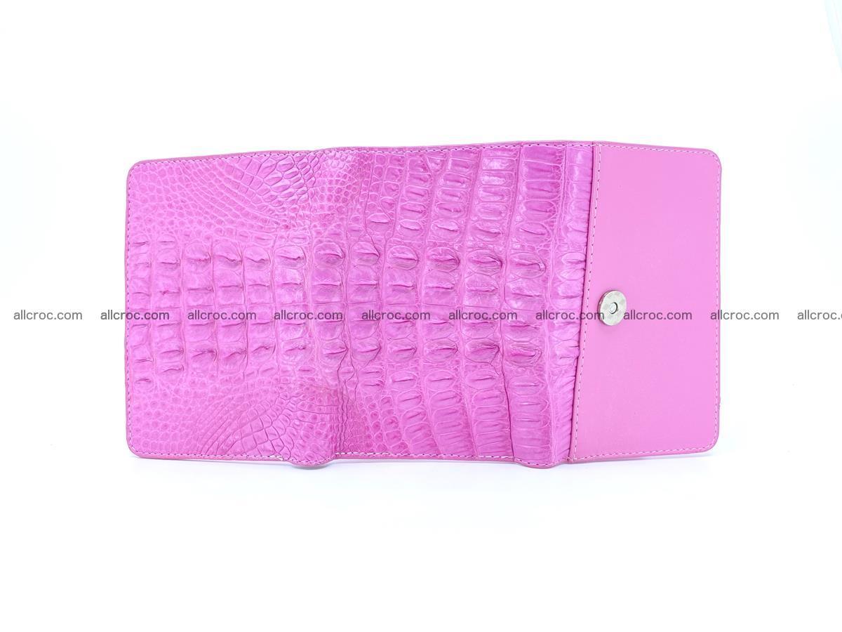 Crocodile skin wallet for women 395 Foto 9