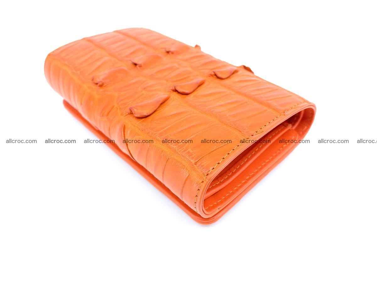 Crocodile skin wallet for women 400 Foto 4