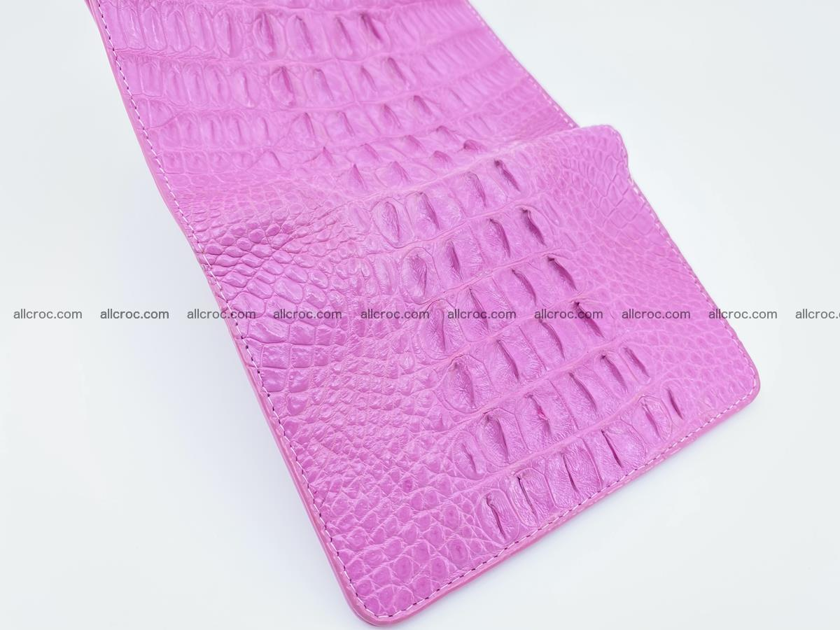 Crocodile skin wallet for women 395 Foto 8