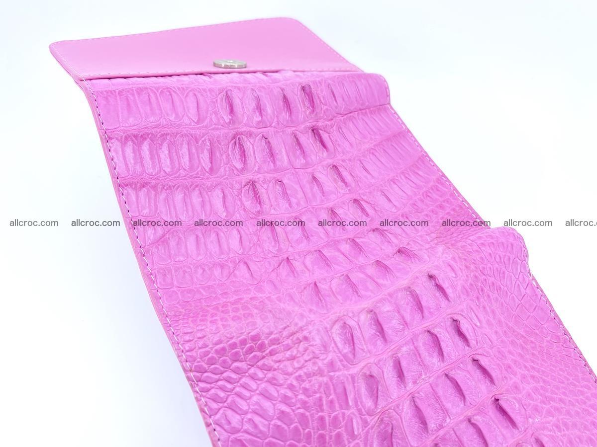 Crocodile skin wallet for women 395 Foto 7