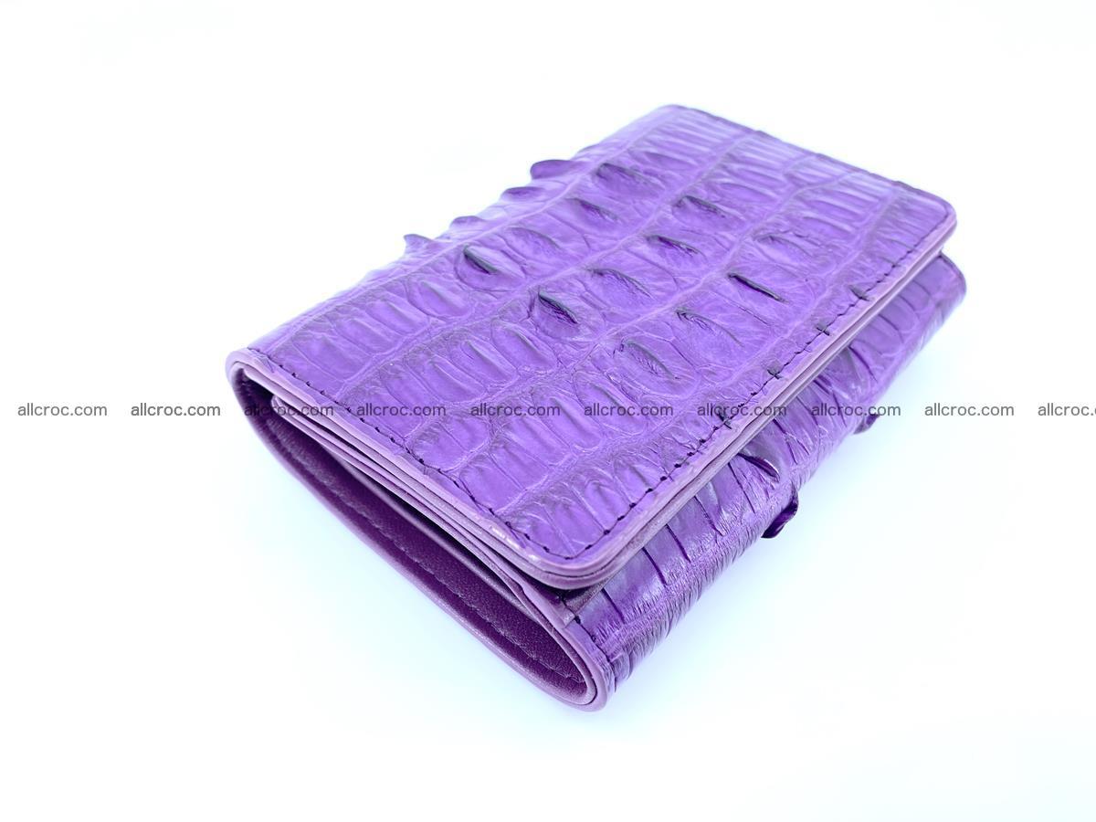 Crocodile skin wallet for women 397 Foto 2