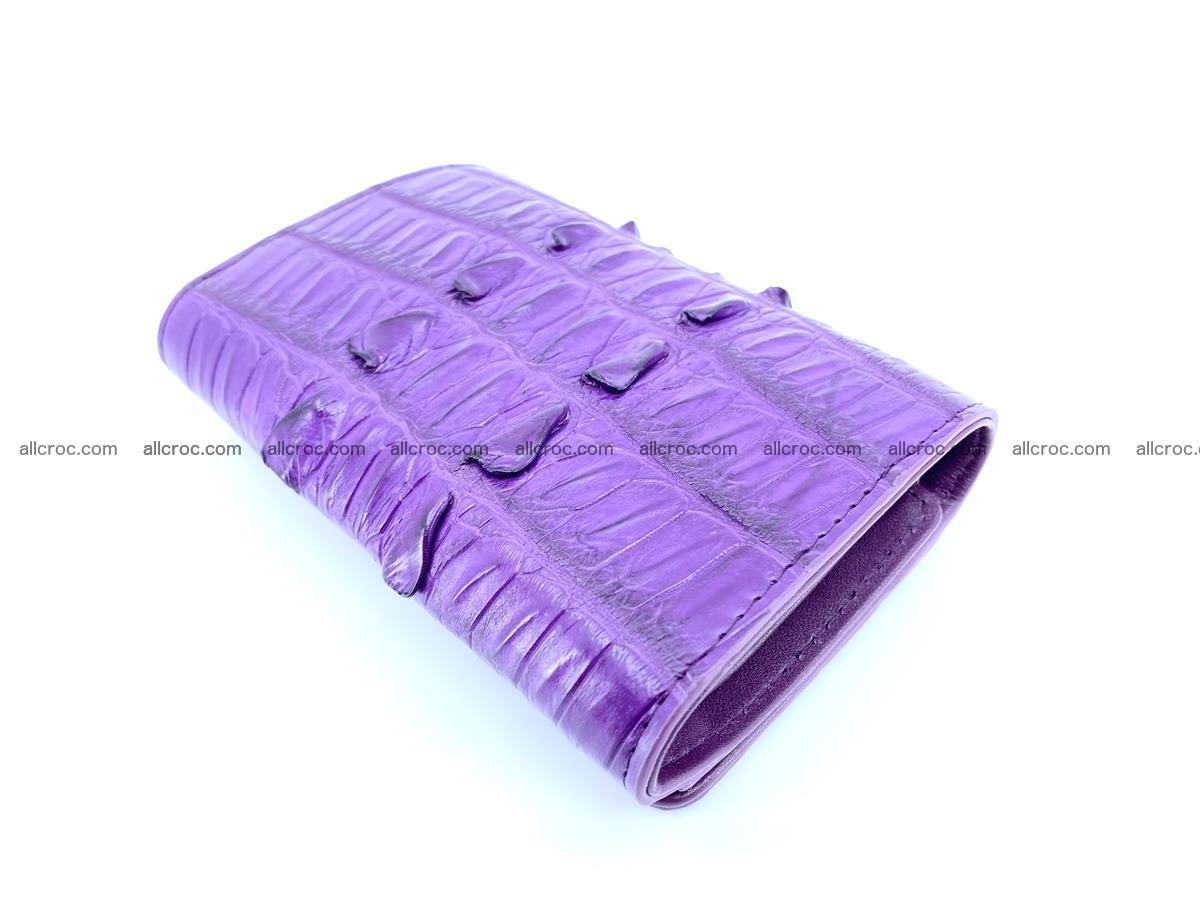 Crocodile skin wallet for women 397 Foto 3