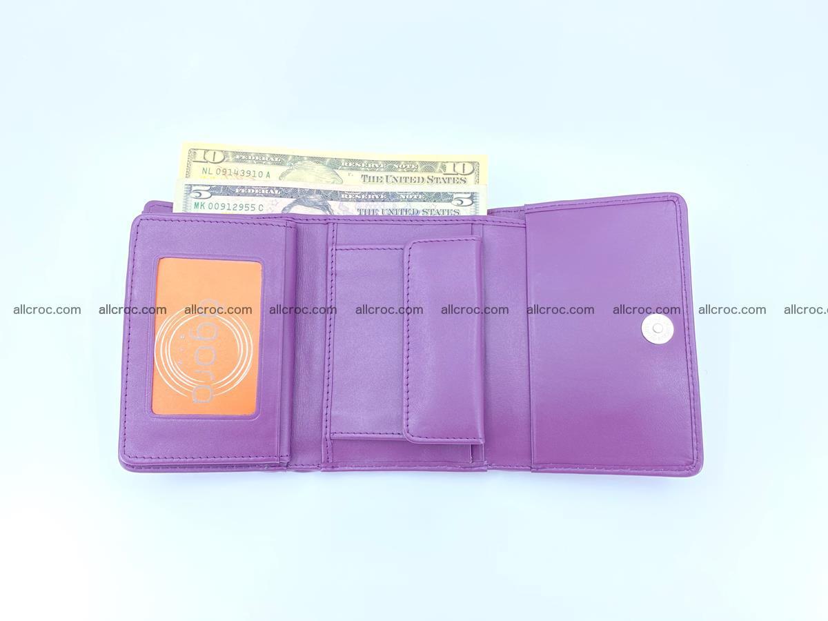 Crocodile skin wallet for women 397 Foto 10