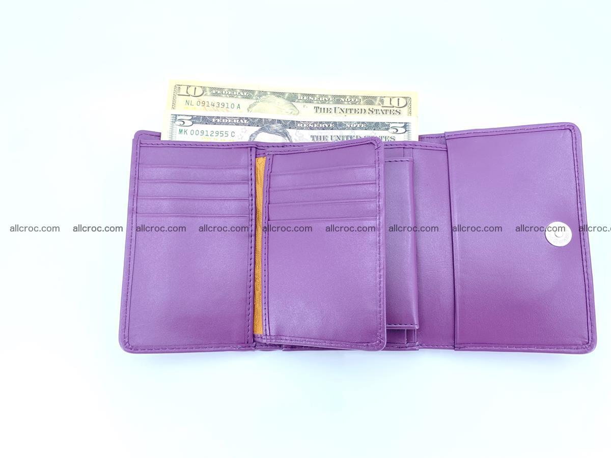 Crocodile skin wallet for women 397 Foto 11