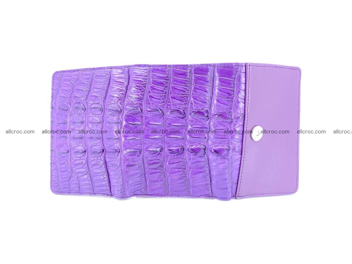 Crocodile skin wallet for women 397 Foto 6