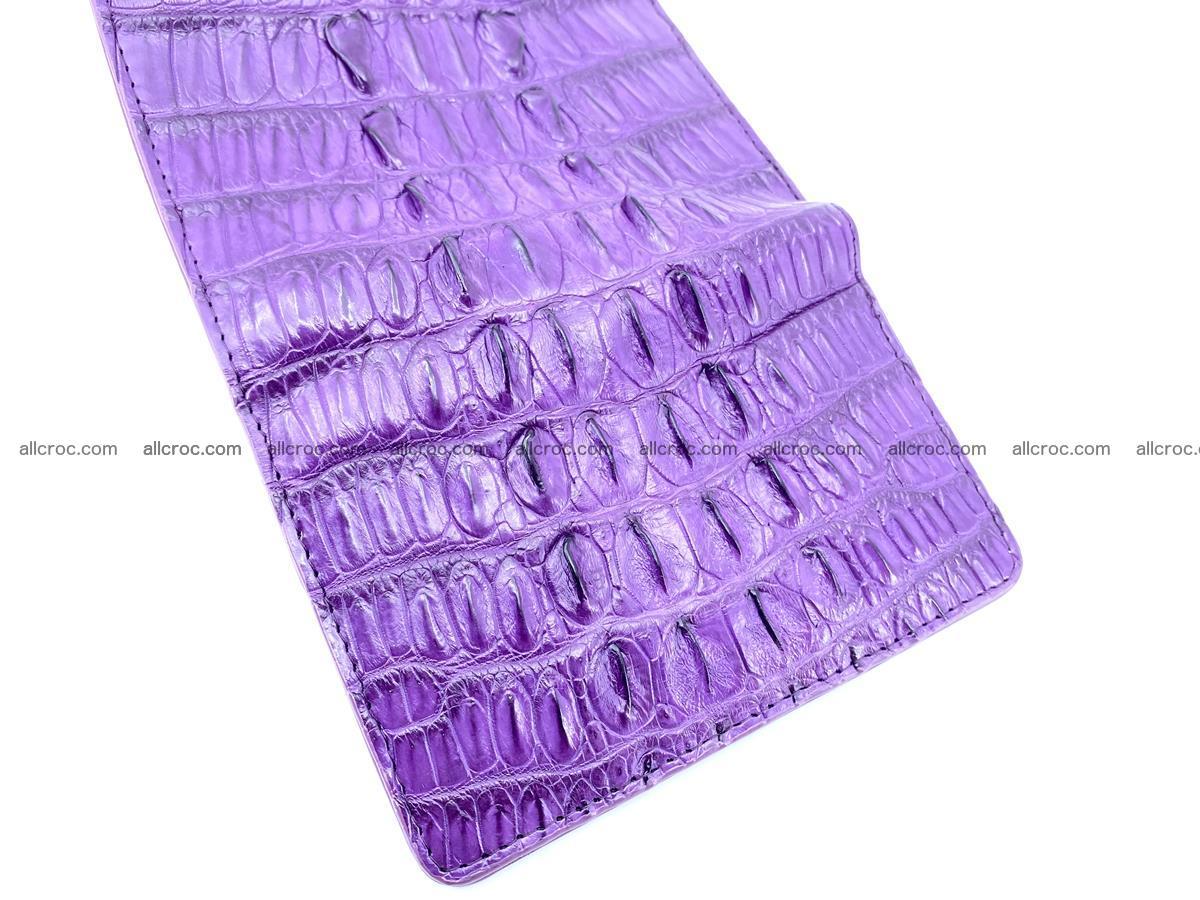 Crocodile skin wallet for women 397 Foto 8