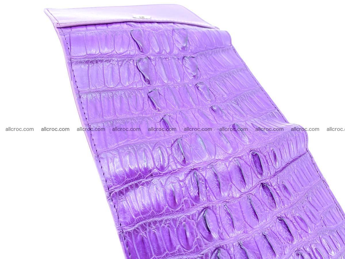 Crocodile skin wallet for women 397 Foto 7