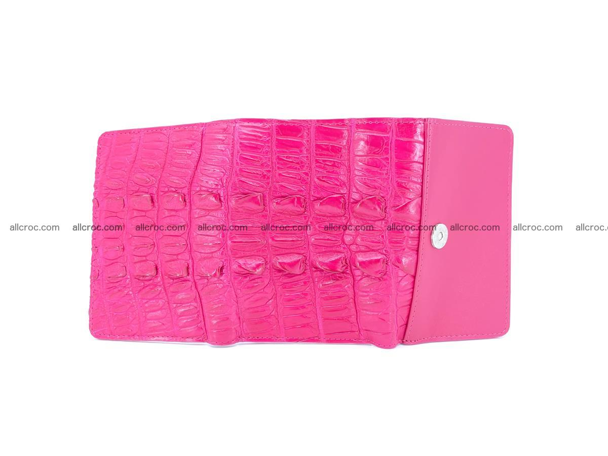 Crocodile skin wallet for women 396 Foto 6