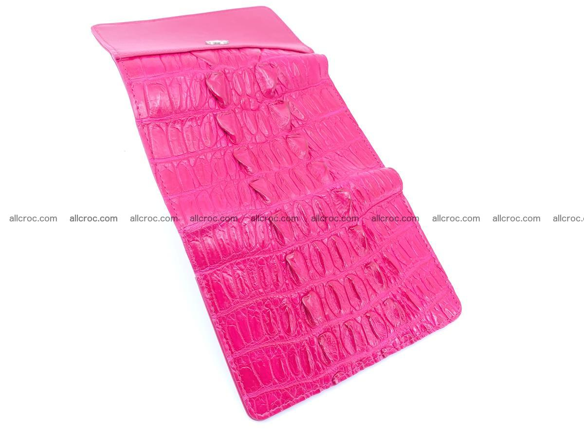 Crocodile skin wallet for women 396 Foto 7