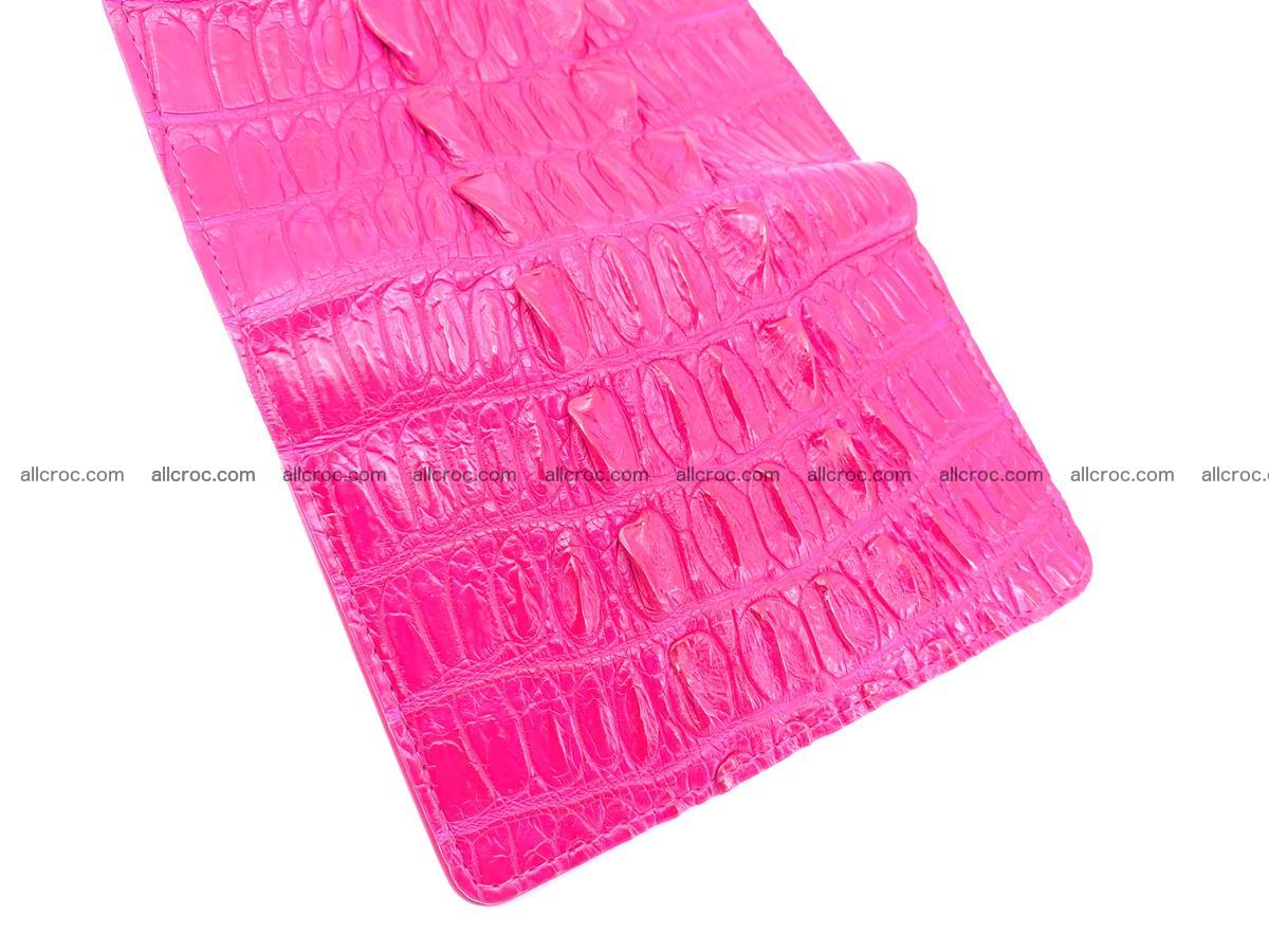 Crocodile skin wallet for women 396 Foto 8