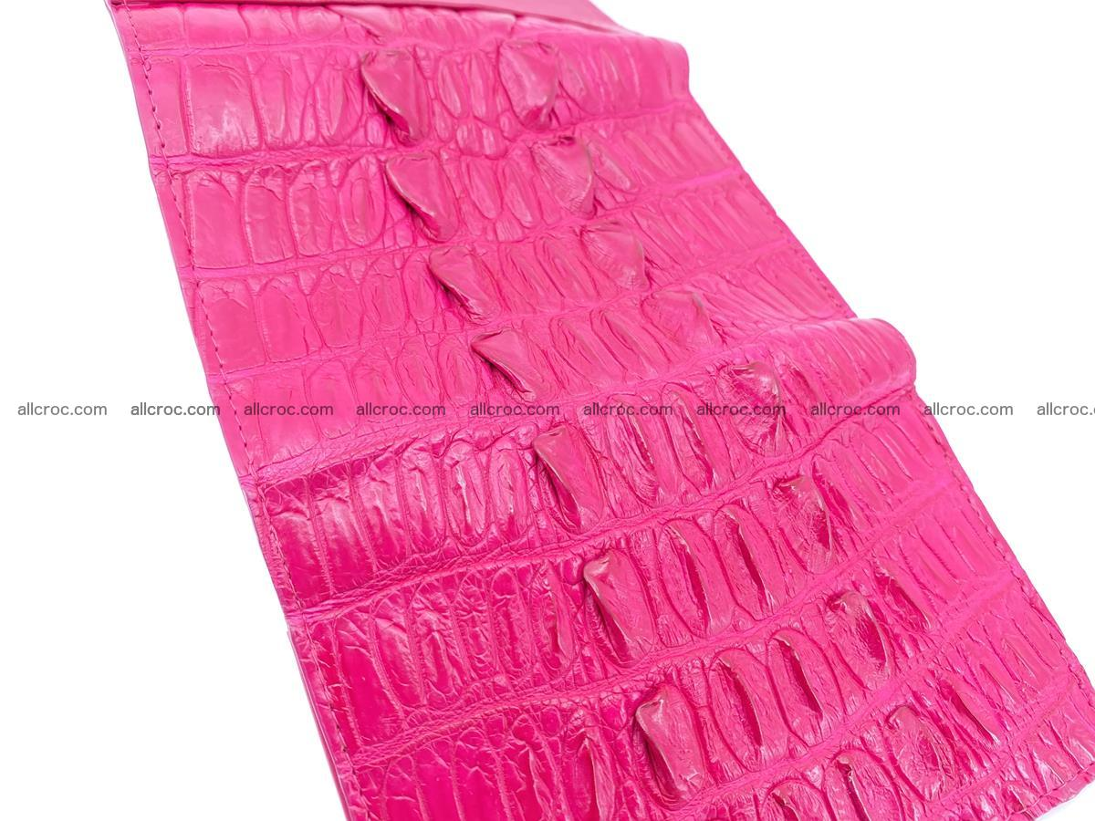 Crocodile skin wallet for women 396 Foto 9