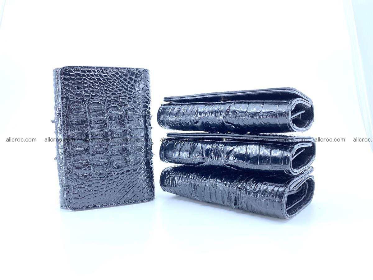 Crocodile skin wallet for women 405 Foto 2