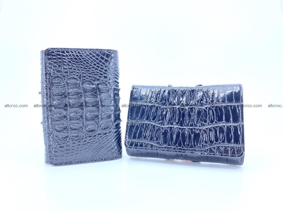 Crocodile skin wallet for women 405 Foto 13