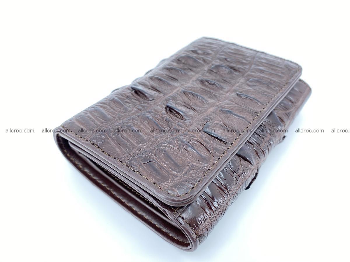 Crocodile skin wallet for women 404 Foto 4