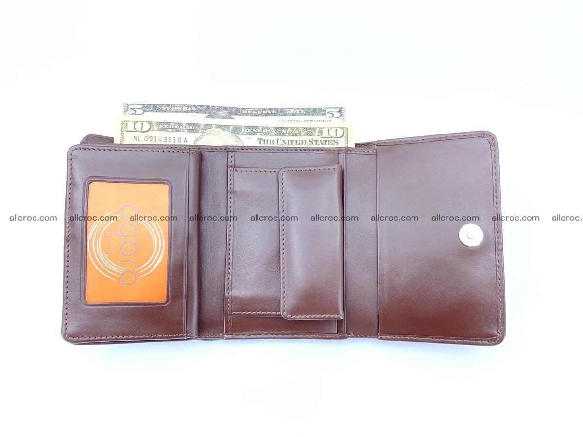 Crocodile skin wallet for women 404 Foto 10