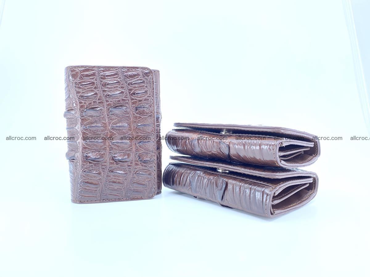 Crocodile skin wallet for women 404 Foto 13