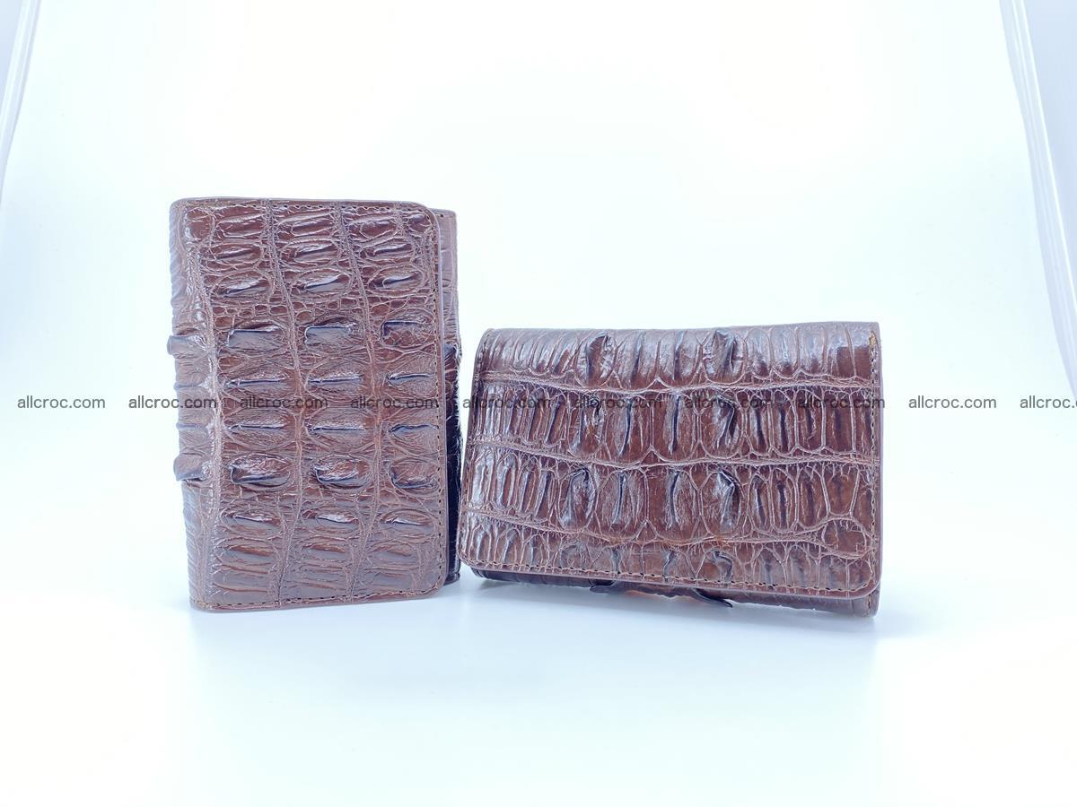 Crocodile skin wallet for women 404 Foto 12