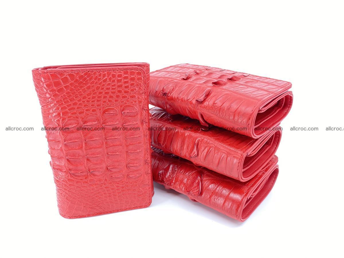 Crocodile skin wallet for women 394 Foto 10